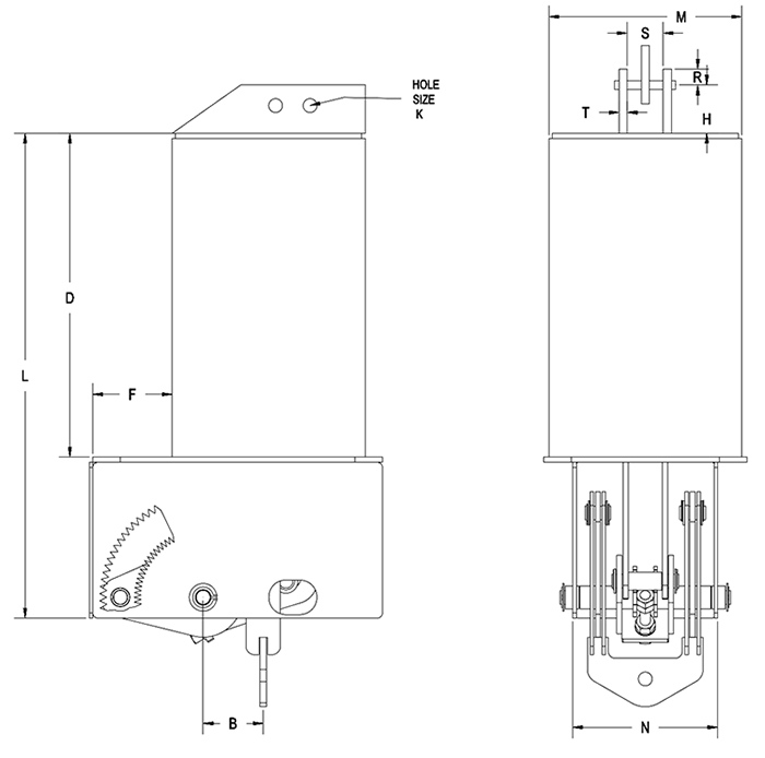 Part RCS-80V Type C Constant Spring Support