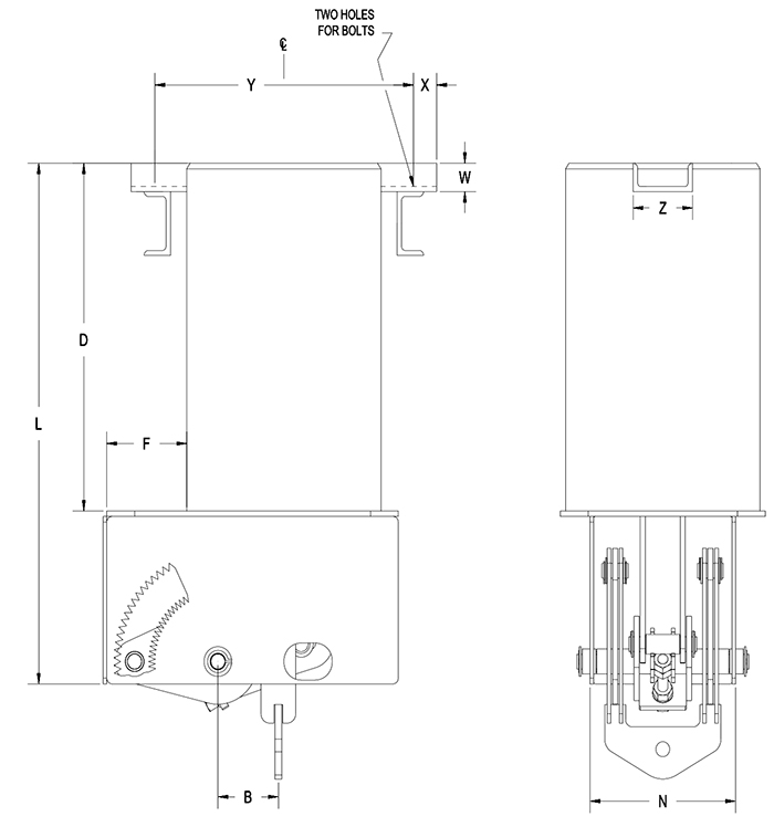 Part RCS-80V Type D Constant Spring Support