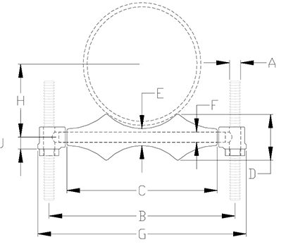 single pipe roll support drawing
