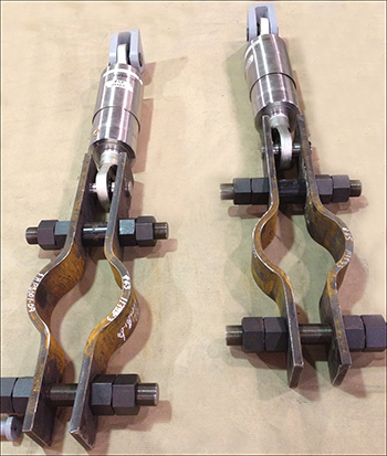 Hydraulic Snubbers with Double Bolt Pipe Clamps