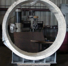 "60"" Hot Shoe Pipe Shoe for a Project in Canada"