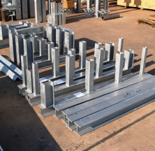 Structural Steel Being Prepared for Shipping
