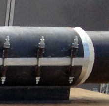 PyroWrap Pipe Shoe Installed on a Pipe