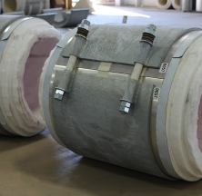 Pre-Insulated Pipe Supports with Cryogel Insulation