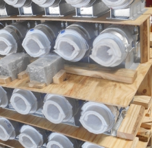 Preparing Several Cryogel Pipe Supports to Ship