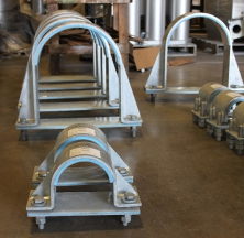 Hold Down Pipe Clamps in Various Sizes