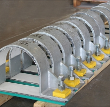 Teflon® Hold Down Pipe Clamps