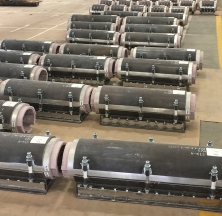 PyroWrap Pipe Supports on the Assembly Floor