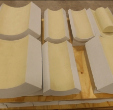Insulation Guides on a Pallet Ready for Shipping