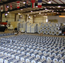 Polyurethane Pipe Supports on the Assembly Floor at the Brittmoore Rilco Shop