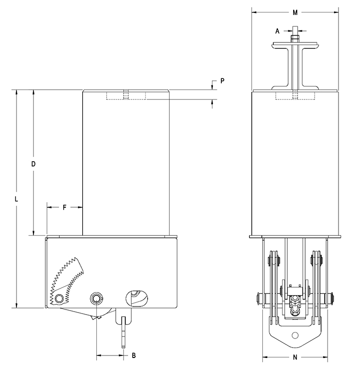 Part RCS-80V Type A Constant Spring